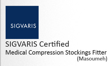 sigvaris certified medical compression stockings fitter - Masoumeh