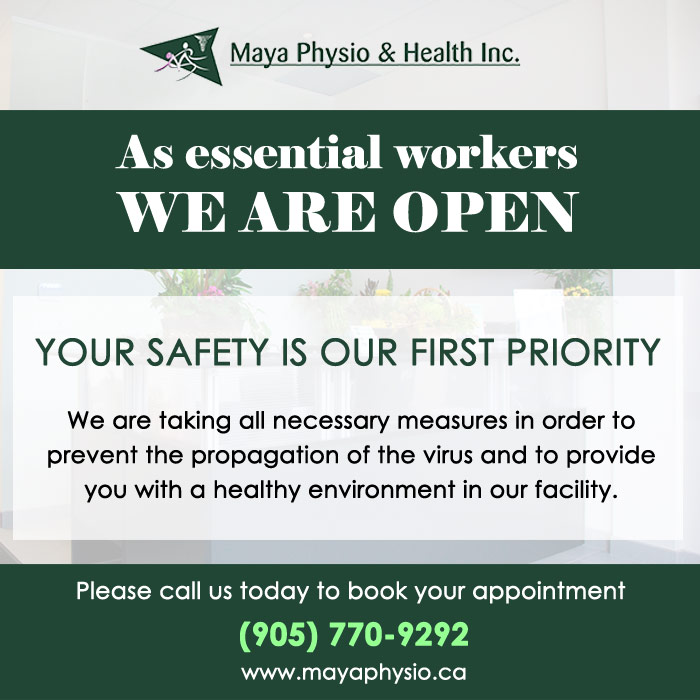 Maya Physio open notice