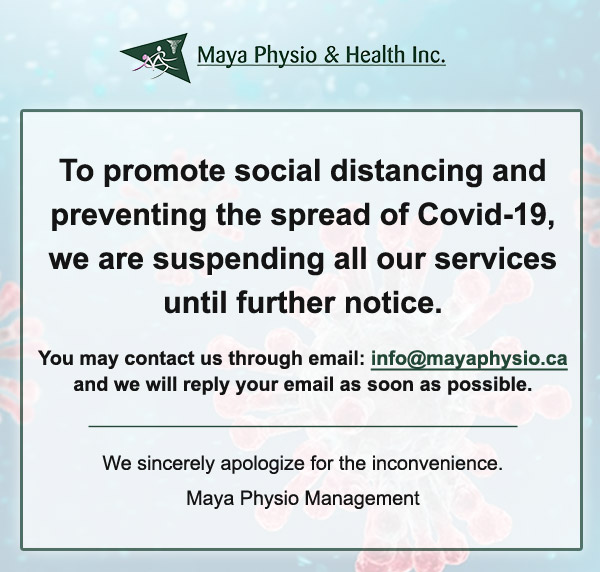 Maya Physio Covid 19 Outbreak Notification Closed