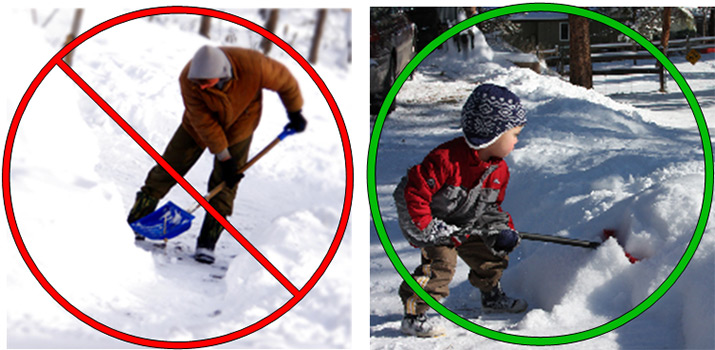 Shovel Snow Correctly